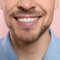 photo of man's smile and teeth